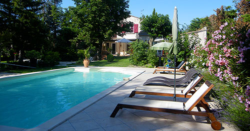 cottage rental with large pool